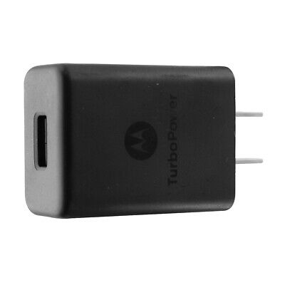 Motorola Turbo Power 15W Wall Charger Single USB Charging Adapter SPN5970A Black