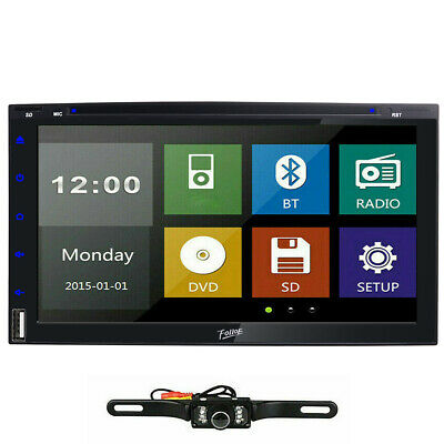 """7"""" Double 2Din Car Stereo Radio DVD Player In Dash Bluetooth CD Head Unit+CAMERA"""