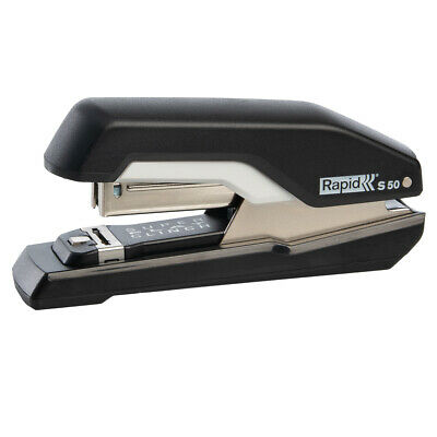 Rapid Flat Clinch Stapler 50 Sheet Capacity Home Office Paper Desk Supplies