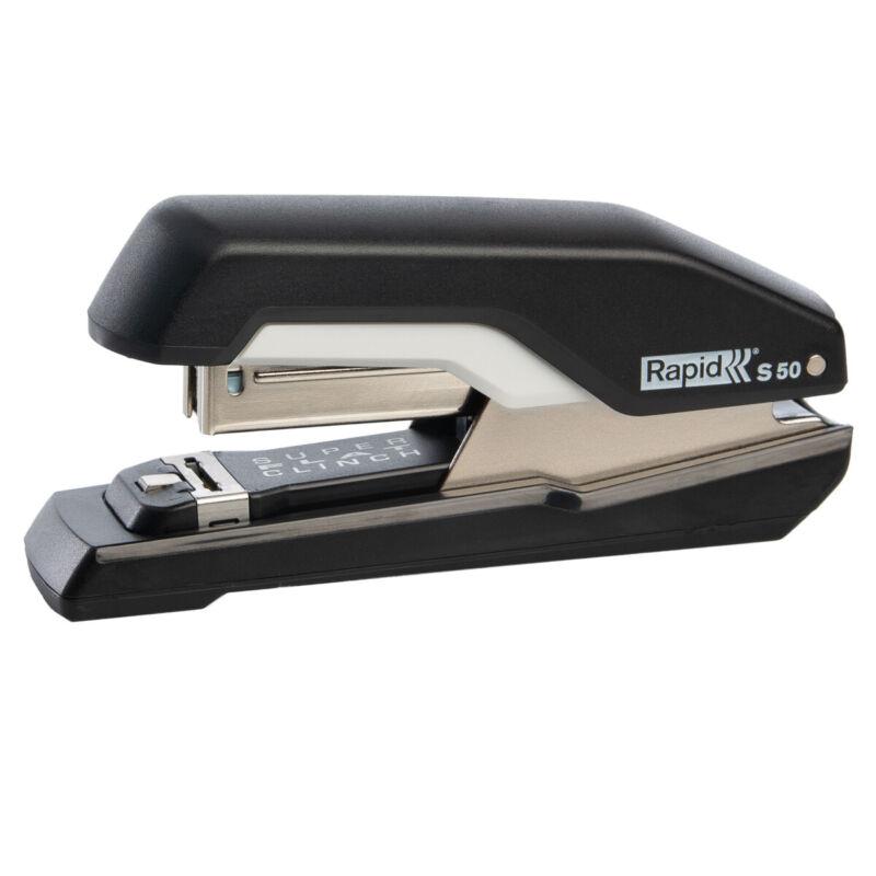 Rapid Flat Clinch Stapler 50 Sheet Capacity Home Office Paper Desk Supplies