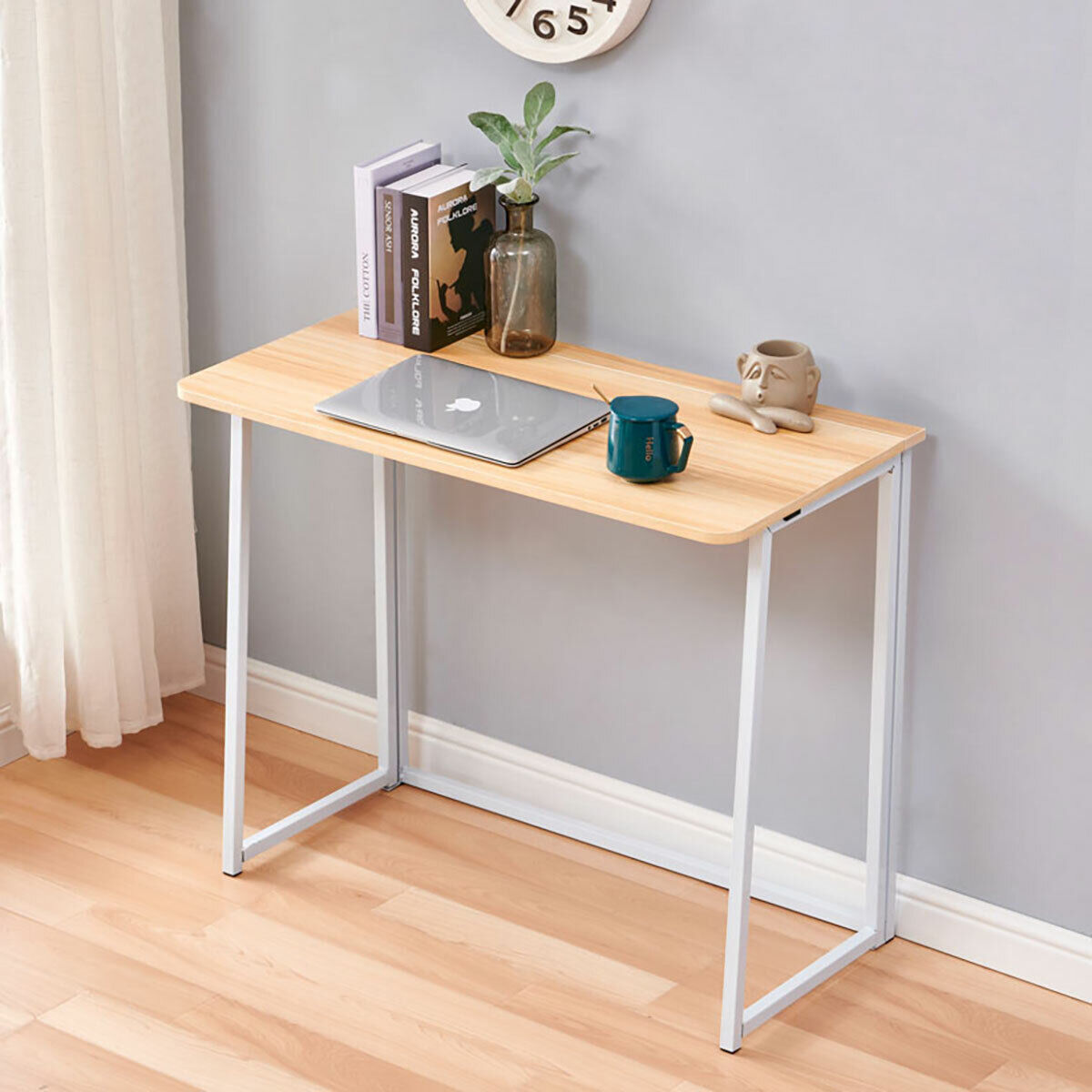 Details about Folding Computer Desk Corner Laptop Writing Table Study  Workstation Office Desk