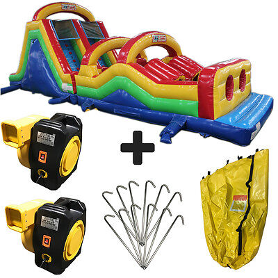 new 50ft obstacle course commercial inflatable bounce