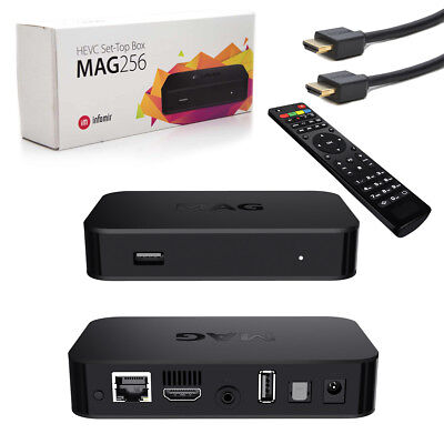 MAG 256 original IPTV Streamer SET TOP BOX Multimedia Internet TV FullHD IPBOX
