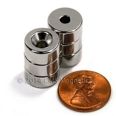 Countersunk Hole Neodymium Magnets N42 12x14 For 6 Screw 6 Ct.