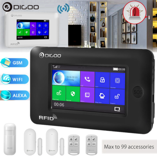 Digoo DG-HAMA Full Touch GSM & WiFi Smart Home Burglar Secur