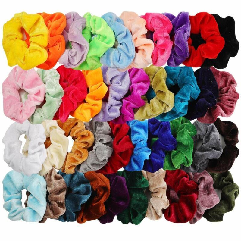 40pcs Hair Scrunchies Velvet Elastic Hair Bands Scrunchy Hair Ties Ropes 40 Pack