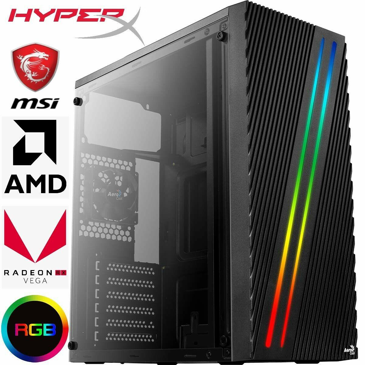 Computer Games - SUPER FAST AMD Gaming PC Computer 8GB RAM 256GB SSD RADEON VEGA 3 WIN 10