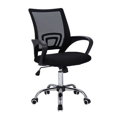 Modern-Mesh-Mid-Back-Office-Chair-Computer-Desk-Task-Ergonomic-Swivel-Black-New