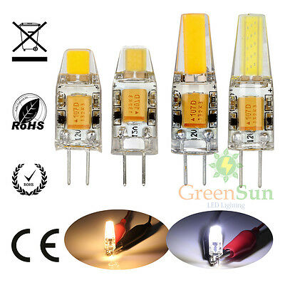 Details About 10x 4x 1 5w 3w G4 Led Cob Light Lamp Pin Base Bulb Dimmable Ac Dc 12v Show Original Title