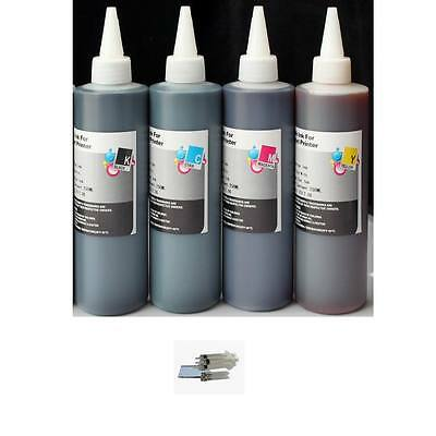 Dye Based Ink Refill - 250ml PREMIUM DYE-BASED REFILL INK FOR HP LEXMARK DELL CANON - 4PKS