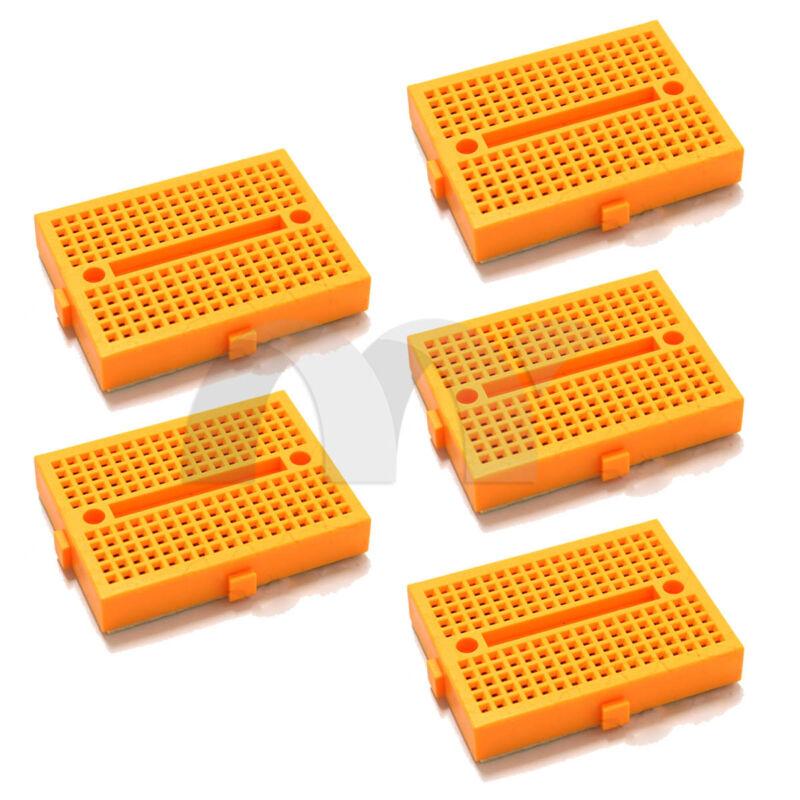 10pcs 10x Yellow 170 Tie-points Mini Solderless Prototype Breadboard for Arduino