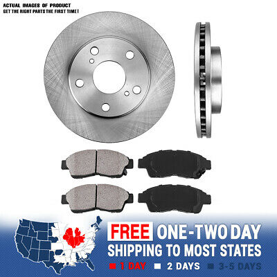 Front Rotors +Ceramic Pads For 1992 1993 1994 1995 1996 1997 - 2001 Toyota Camry