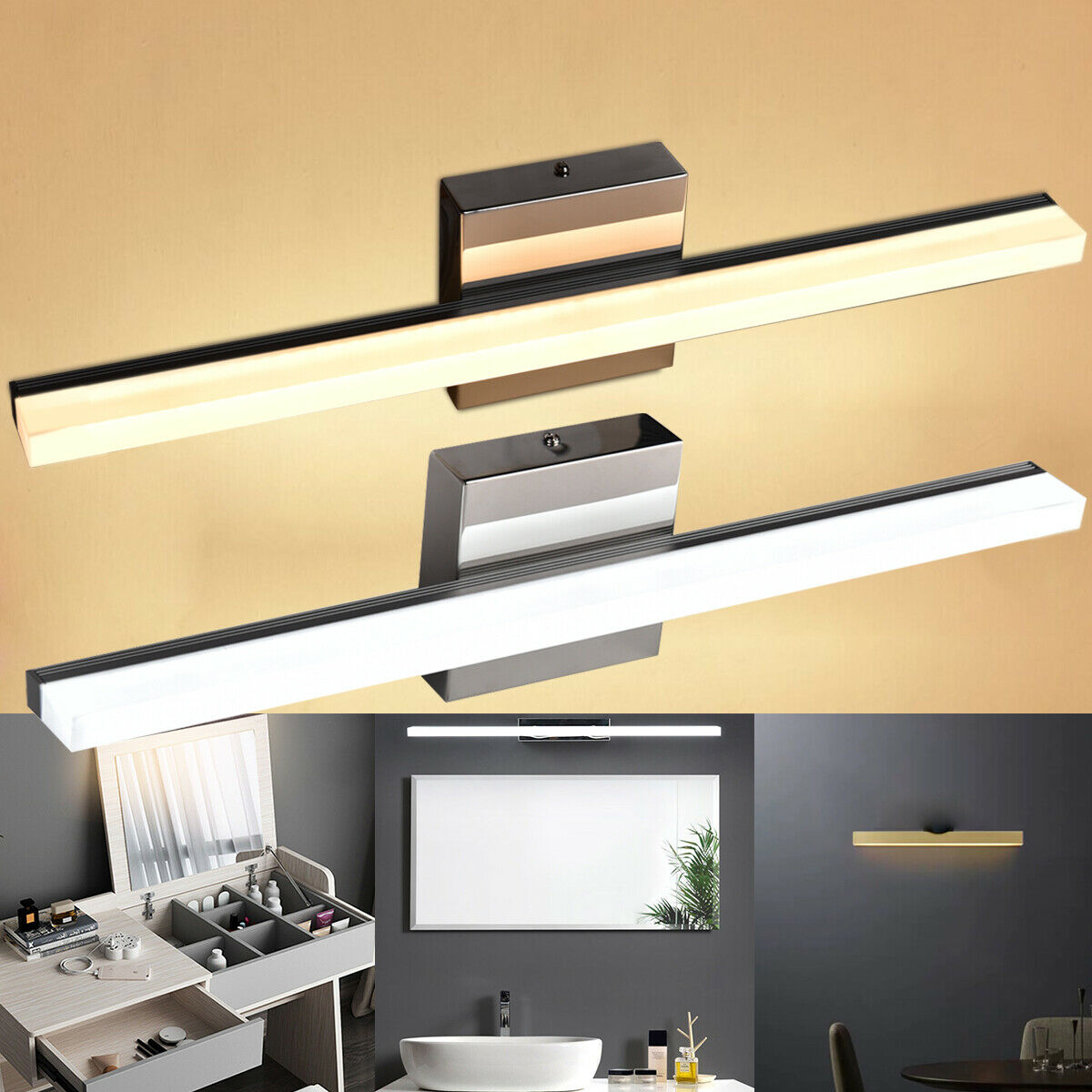 bathroom vanity wall lamp led makeup front