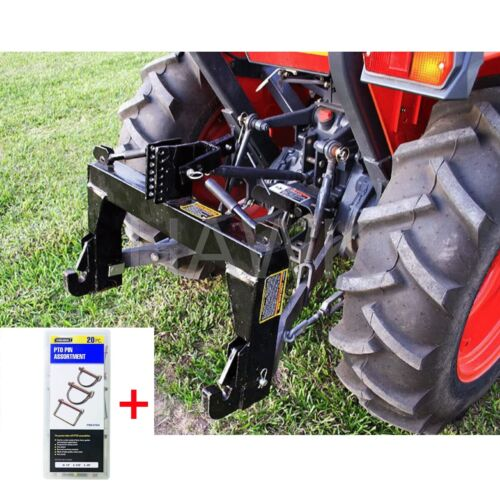 Quick Hitch 3-Point Category 1 Farming Tractor Implement + FREE 20 Pc. PTO Pins