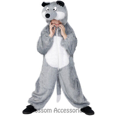 CK482 Wolf Big Bad Fairytales Book Week Animal Jumpsuit Boys Girls Fancy Costume - Big Bad Wolf Girl Costume