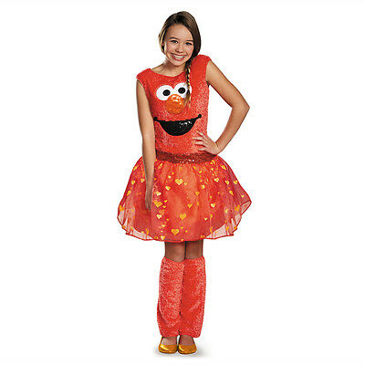 Tween Sesame Street Costumes (Sesame Street Elmo Deluxe Tween Child Costume Disguise)