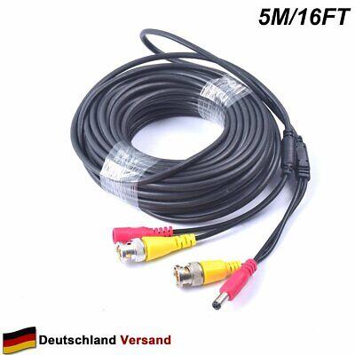 Video Power Bnc Kabel (5M All-in-One BNC Video Verlängerungskabel mit Power-DC für Surveillance CCTV)