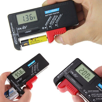 BT168D Digital Battery Capacity Tester LCD for 9V 1.5V AA AAA Cell C D Batteries