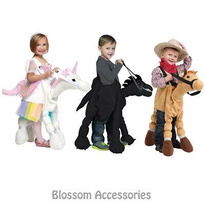 CK652 Ride on a Unicorn Horse Dragon Girls Boys Book Week Fancy Dress Up Costume - Dragon Horse Costume