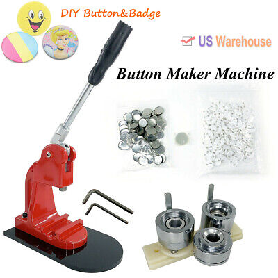 Button Maker 25-58mm Badge Making Machine W/ Die Mould + Pin Badge Button Parts Craft Badges Pins