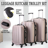 ECO 3Pc Luggage Travel Set Bag ABS Trolley Suitcase Lock 4 Wheels