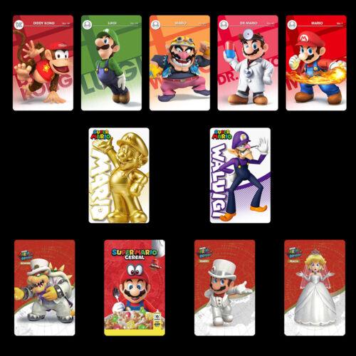 11PCS NFC PVC Karten Super Mario Odyssey Peach Bowser Hochzeitsoutfit für Switch