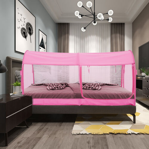 Bed Canopy Tent Mosquito privacy Space Twin Size Pink