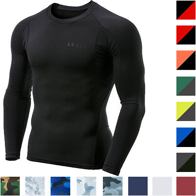 TSLA Tesla MUD11 Baselayer Cool Dry Long Sleeve Compression Shirt Dry Long Sleeve Shirt