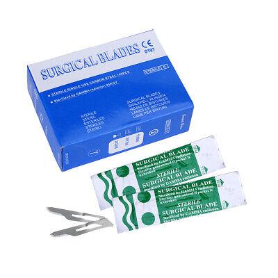 100pcs Dental Surgical Scalpel Blades 10 11 15  1pc Scalpel Handle 3