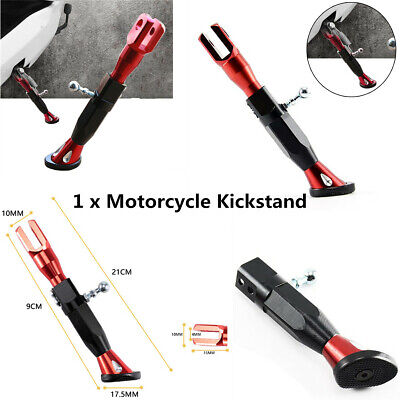 Adjustable Motorcycle Kickstand Foot Brace Leg Foot Side Support Stand 1pcs