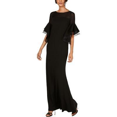 Calvin Klein Womens Black Bell Sleeve Formal Evening Dress Gown 16 BHFO 2366