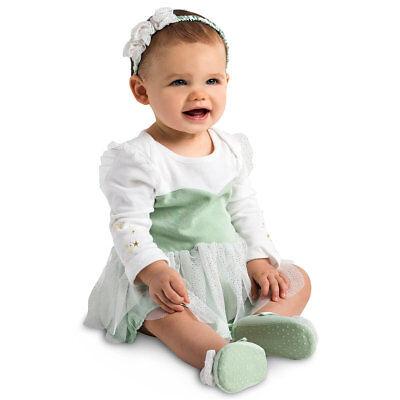 NWT Disney Store Tinker Bell Baby Bodysuit Costume Set Wings Headband many sizes](Disney Baby Tinkerbell Costume)