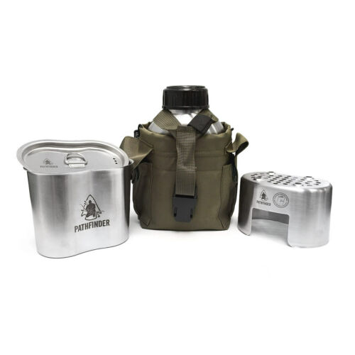 NEW! PATHFINDER POUCH OD GREEN for STAINLESS CANTEEN & COOK SET COVER