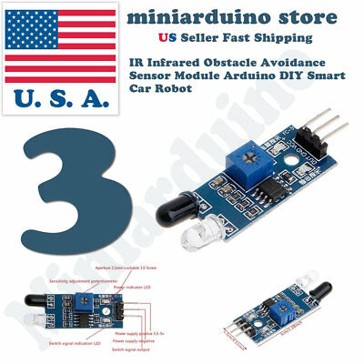 3pcs Ir Infrared Obstacle Avoidance Sensor Module For Arduino Smart Car Robot