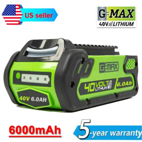 For Greenworks 2901319 G-MAX 40V 6.0Ah Battery 29472 29462 20202 29252 Lithium