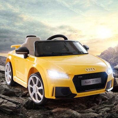 12V Audi TT Electric Kids Ride On Car MP3 LED Lights RC Remote Control Licensed