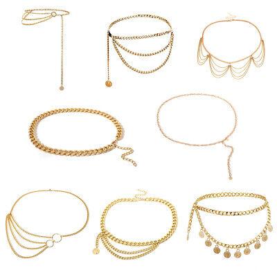 Damen Kettengürtel Taillengürtel Fashion metall moderne Taillen Kette Gürtel - Damen Metall