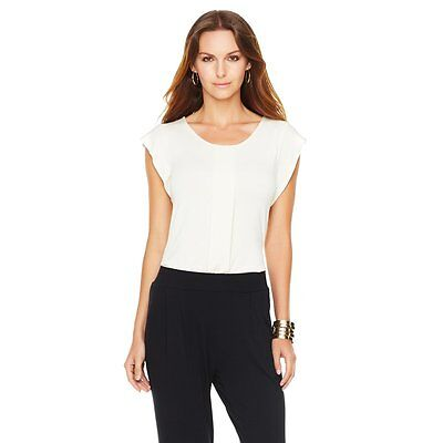 G By Giuliana Rancic  The Jordana  Ruffled Top 334299  2X Bone   Sale  35