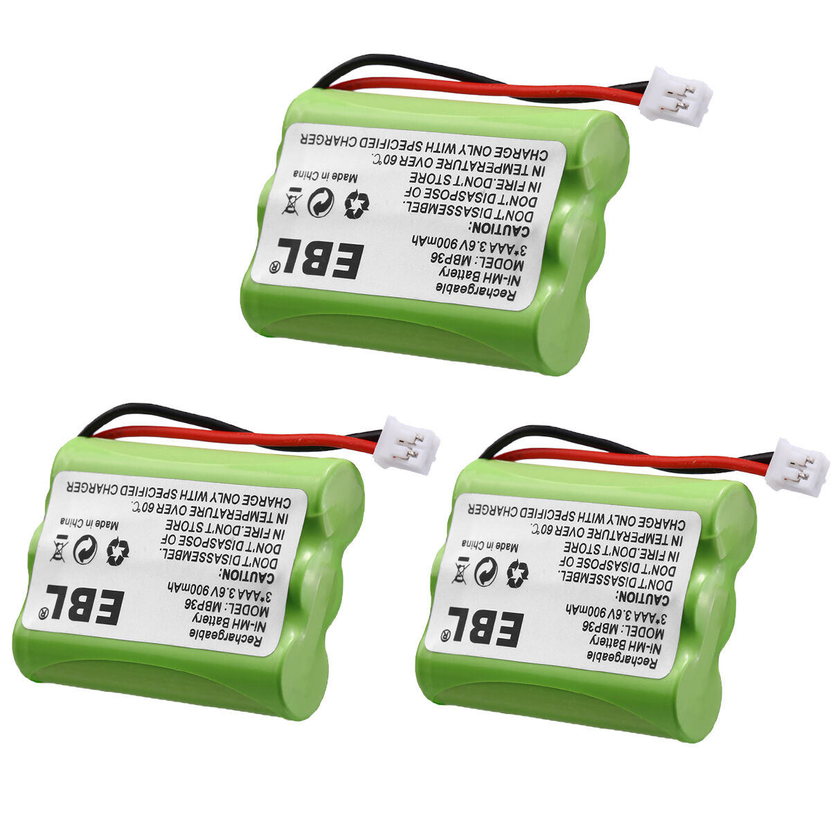 3x 3.6V 900mAh Baby Monitor Battery For Motorola MBP33 MBP36