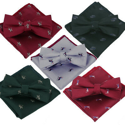 Mini Bow Tie (Bow Tie & Handkerchief - Green Red Silver Jockey Horse Golf Golfer Car Mini Dark)