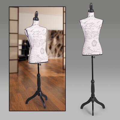 Female Mannequin Torso Dress Form Display Designer Pattern Wblack Tripod Stand