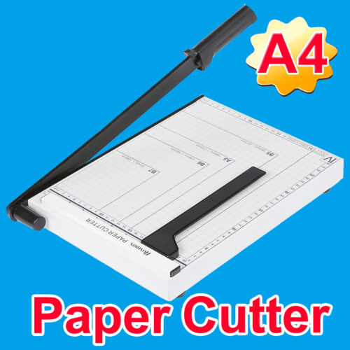 """Paper Cutter A4--B7 Metal Base Guillotine Page Trimmer Blade Scrap Booking 12"""" #"""