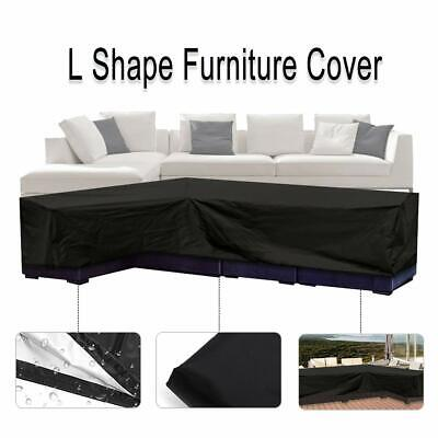 Essort L Shape Cover, Patio Sofa Furniture Couch Cover with Waterproof and Dustp