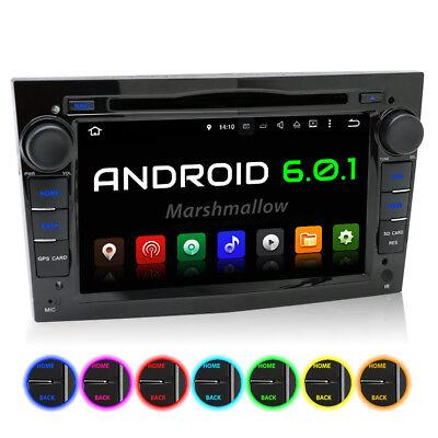 AUTORADIO MIT ANDROID 6.0.1 NAVIGATION DVD USB WIFI 3G OBD2 PASSEND FÜR OPEL DAB