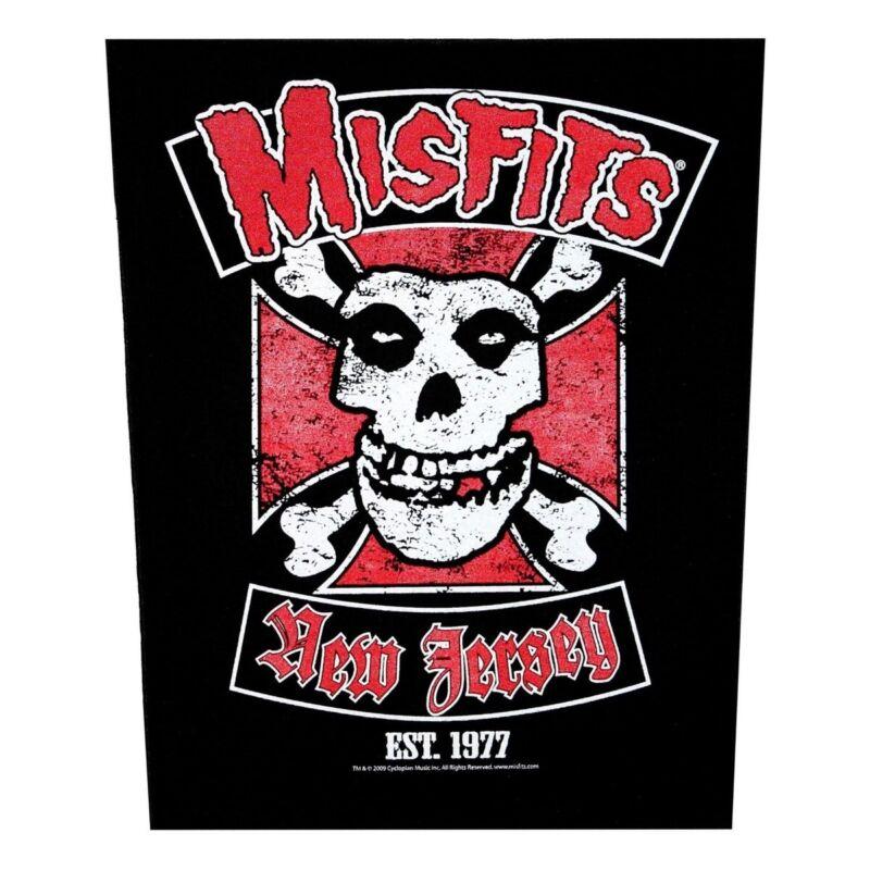 XLG Misfits Biker New Jersey Rock Music Woven Back Jacket Patch Applique