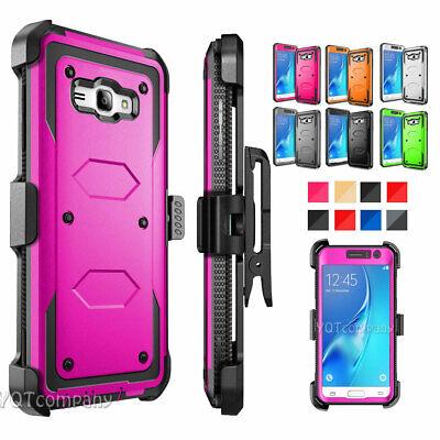 For Samsung Galaxy J3 (2016)/J3V/Sky Camo With Kickstand Clip Phone Case Cover