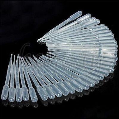 10-100 X 123510ml Plastic Disposable Transfer Oils Pipettes Eye Dropper