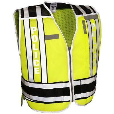 Ml Kishigo Reflective Pro Series Police Safety Vest Limeblack