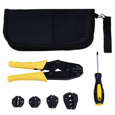 Crimper Crimp Pliers Set 0.5-35 Mm2 Crimping Tool Kit Ratchet 4 Spare Dies Wbag