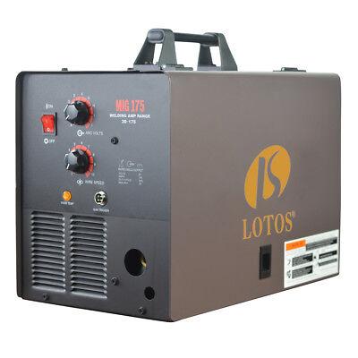 Mig Welder Lotos Mig175 220-volt 175 Amp Mig Flux-core Welder Spool Gun New